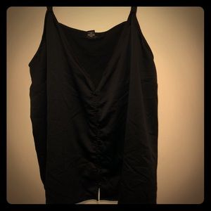black satin button down cami
